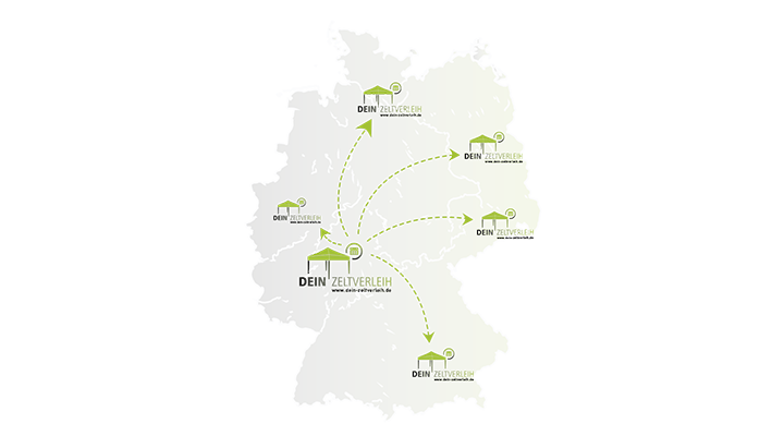 Deutschlandkarte Dein Zeltverleih